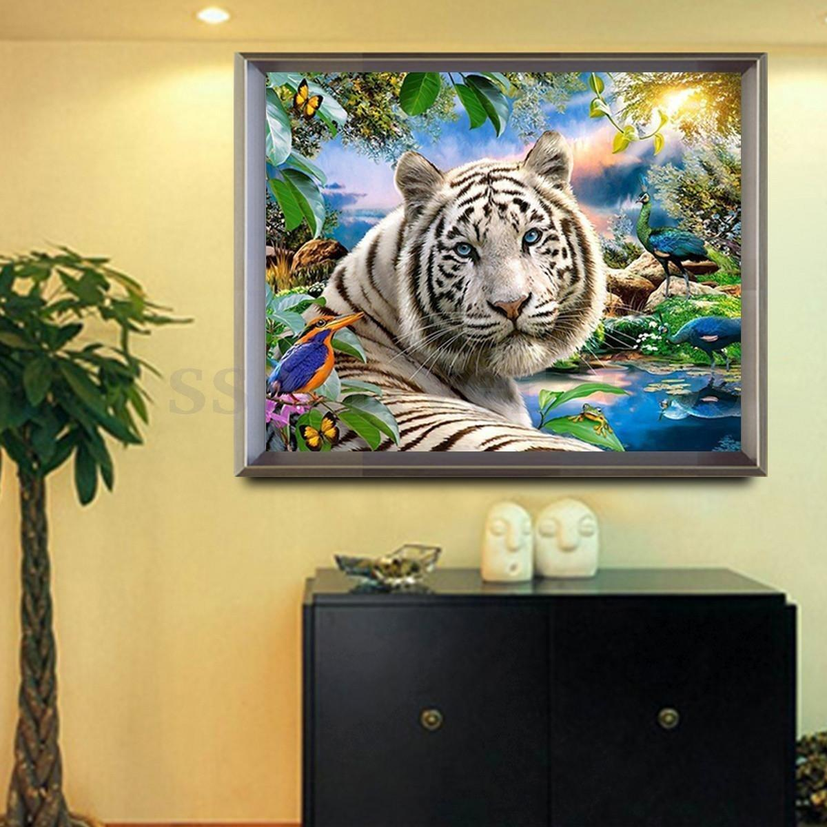 Full Drill DIY Diamond Painting Embroidery 5D Tiger Cross Stitch ...