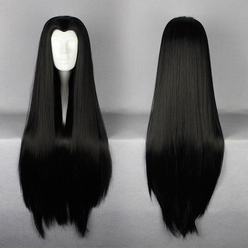 MCOSER Lolita Women Hair 90cm Long Chinese Classical Hairstyle Black Synthetic Party Cosplay peluca llena