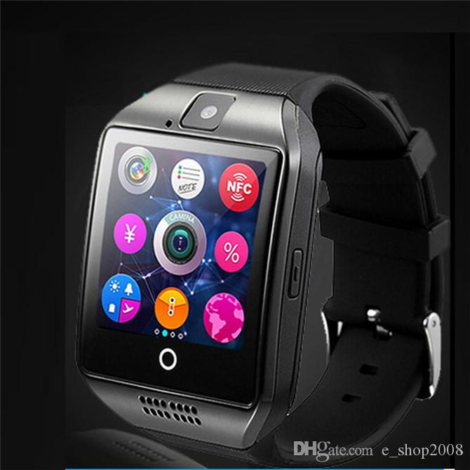 2016 Smart Watch Q18 with Touch Screen camera TF card Bluetooth smartwatch for Android and IOS Phone