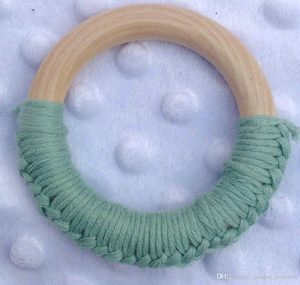 Baby Teething Ring Safety Environmental Friendly Baby Teether Teething Ring Wooden Teething training Child Chews Baby Teeth Stick