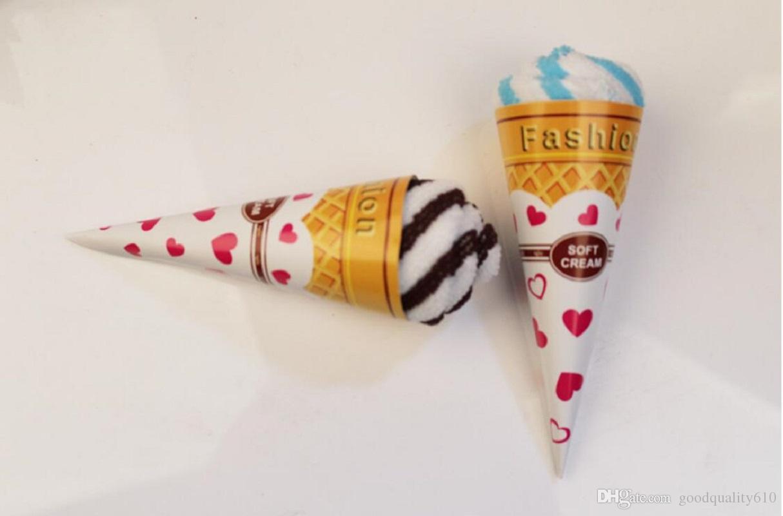 10 stücke mischfarbe eis Kuchen Stil Handtuch Faser Kreative Handtücher Für Hochzeit Geburtstag Favor Geschenk Souvenirs Souvenir