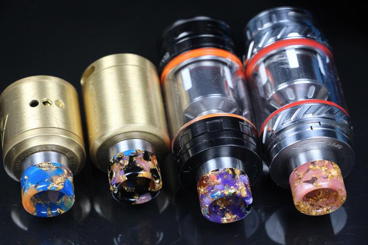 810 Thread Resin Drip Tip Colorful E Cigarette Metal Drip Tips for SMOK TFV8 TFV12 Tanks Kennedy RDA RBA RTA Atomizer DHL Free