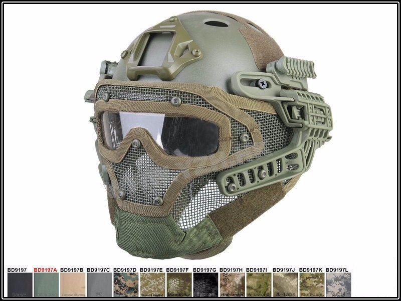 Acheter Nouveau Tactique Plein Visage Protection Masque Masque Casque Avec Lunettes  Pour PJ Évent Airsoft Paintball WarGame CS Tactique Chasse De  112.57 Du ... f4d24c49a585