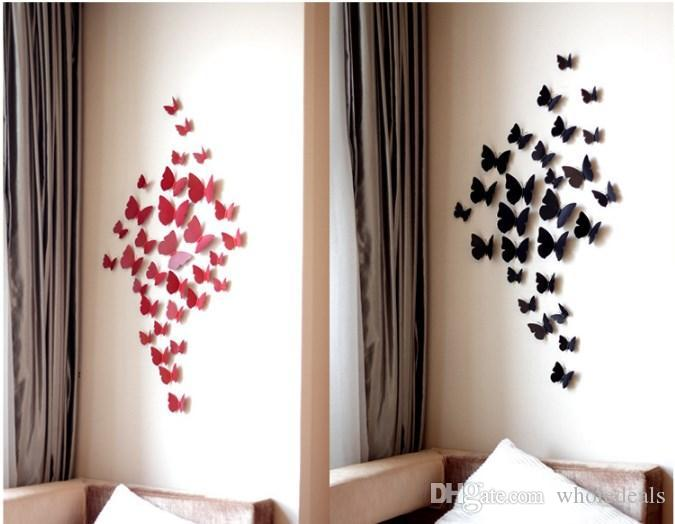 3D Butterfly Wall Stickers Home DIY Decor Wall Decals For Living Room, Bedroom, Kids Room