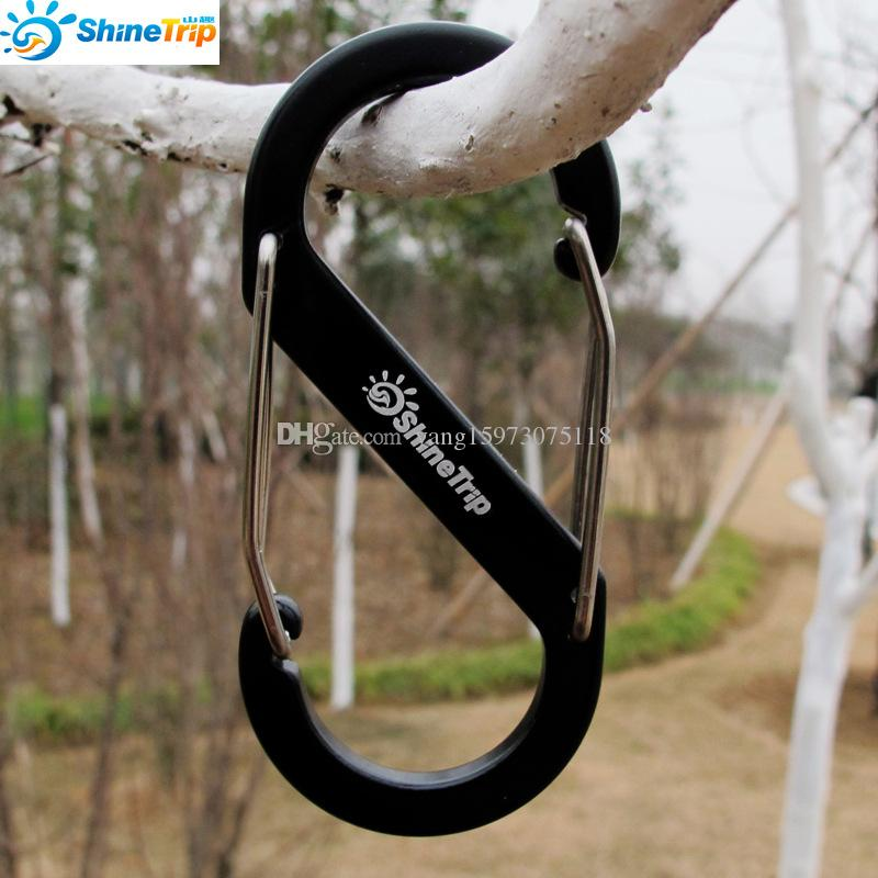 8-Shaped Aluminum Carabiner KeyChain Hook Clip Camping Equipment EDC Gear Traveller Slide Lock Water Bottle Buckles Snap 023