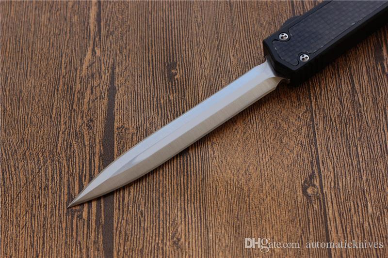 Miker II Super Coltello in alluminio / carbonio manico in fibra doppia azione le lame di caccia strumenti coltello da tasca di campeggio di sopravvivenza coltello da cucina strumento