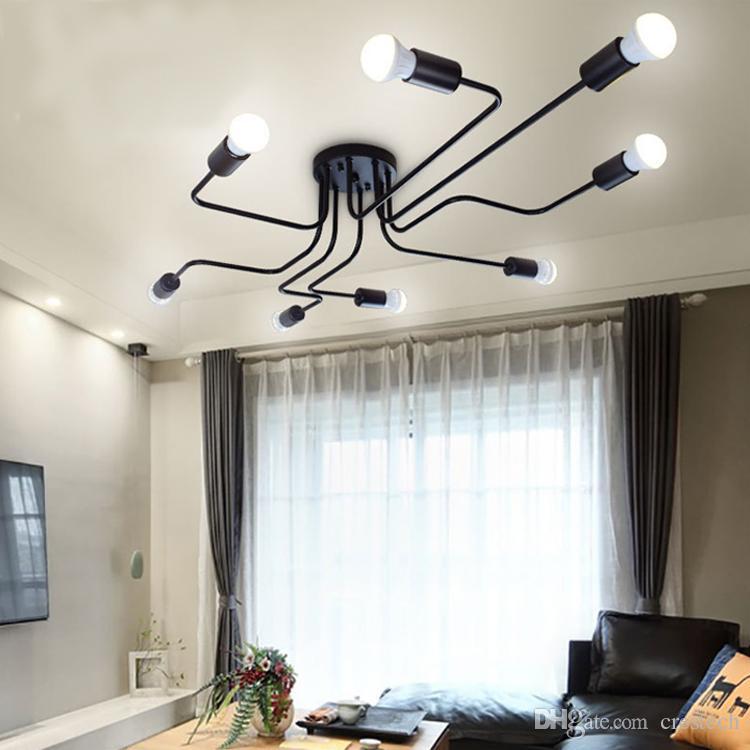 Personality lampada a sospensione in rattan lampada a sospensione vintage luci led lunghe lampade a sospensione in ferro plafoniera, personalizzazione della lampada