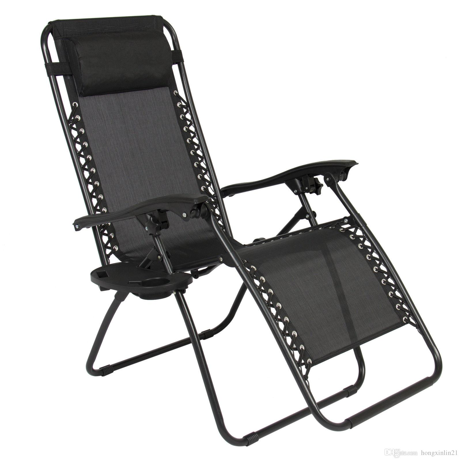 2018 Zero Gravity Chairs Case Of 2 Black Lounge Patio Chairs Outdoor Yard  Beach New From Hongxinlin21, $70.36 | Dhgate.Com