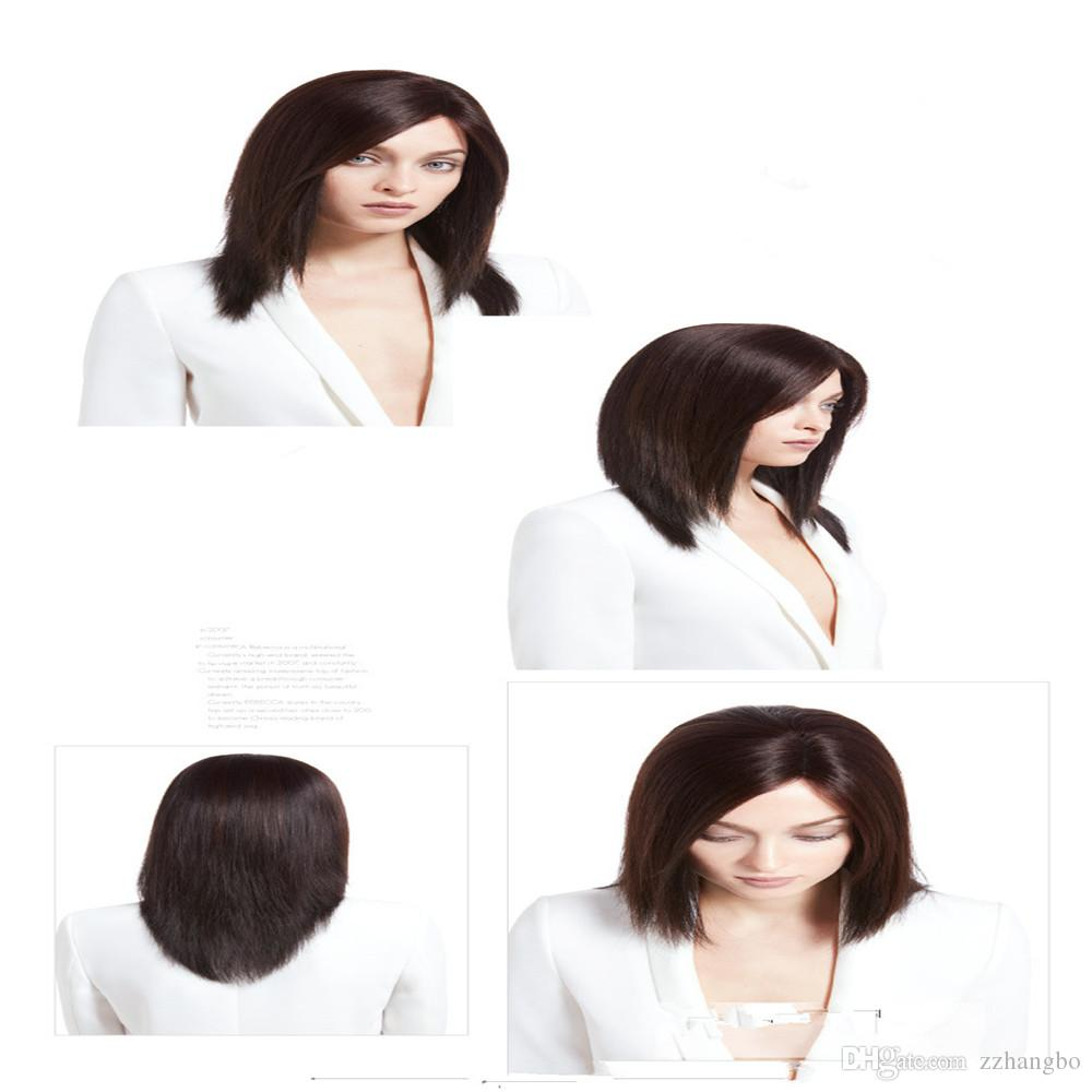 Full Lace Wigs Remy human hair wig Full Lace Human Hair Wig Senior silk Long Wavy Brazilian Virgin Hair 100% With Bangs For women Color 6#