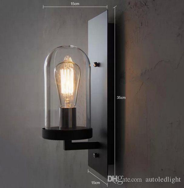 Hall Nice Industrial Wall Lamp Light Glass DIY Lighting Home Cafe Art indoor lighting wall lamps
