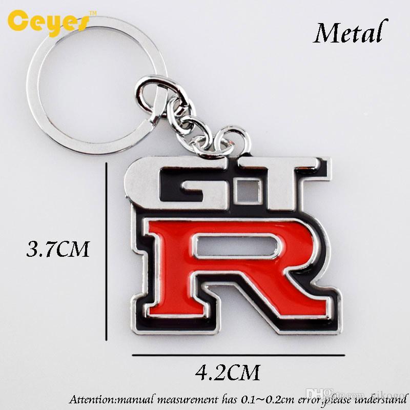 المعادن سيارة كيرينغ مفتاح سلسلة شارة شعار ل gtr نيسان r35 r35 1400 تعديل السيارات مفتاح حامل اكسسوارات السيارات سيارة التصميم