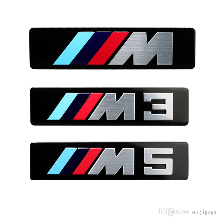 M logo aluminium decal sticker m3 m5 side fender badge for bmw e90 e39 e36 e46 e60 f10 f20 f30 x3 x5 x6 logos on cars logos with cars from mayigaga