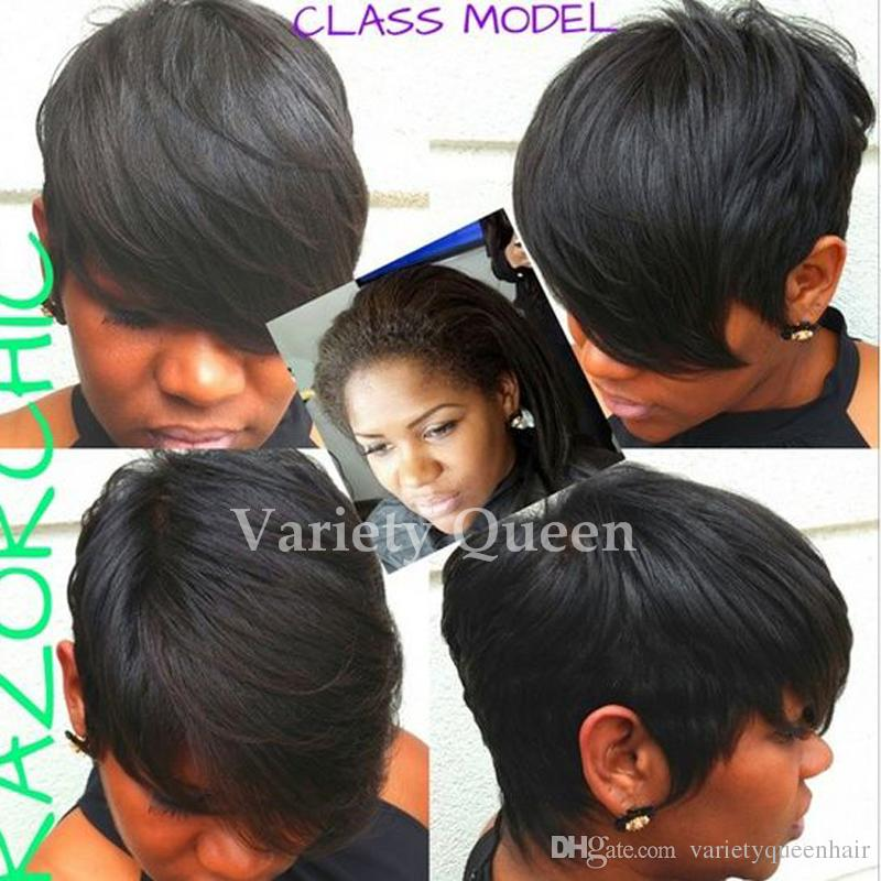 Short human hair wigs for black women think