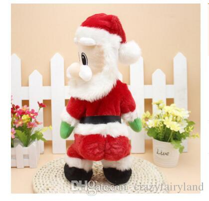 toy christmas santa claus singing electric toys twisted hip twerking for kids xmas decorations christmas gifts wiggle hip most popular toys this christmas - Singing Christmas Toys
