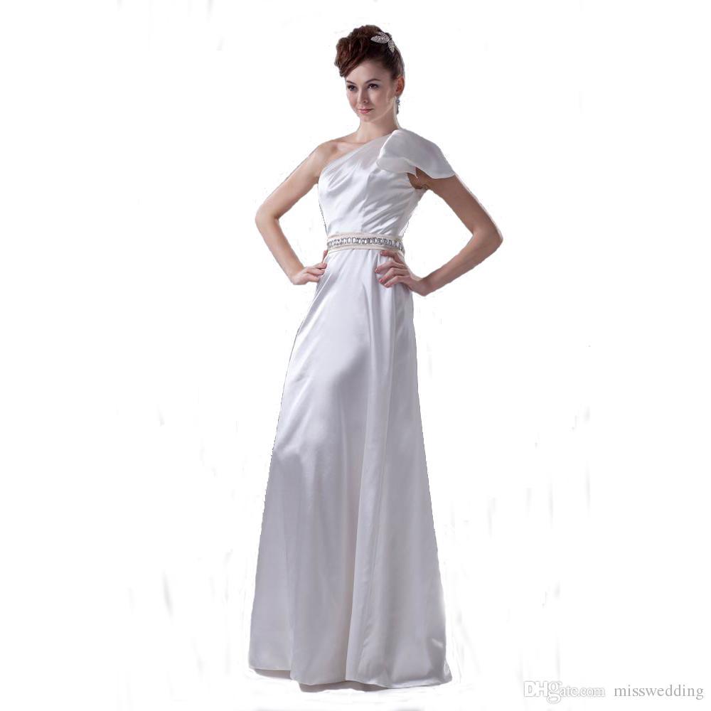 2017 Autumn Collection One Shoulder Formal Wedding Dress Floor ...