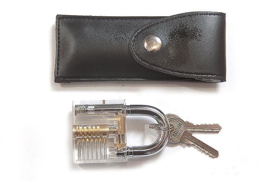 قفل التدريب اختيار أدوات مجموعة الأقفال الممارسة مع شفافة اعتراضية لفتاحة إفتح الباب الشحن المجاني