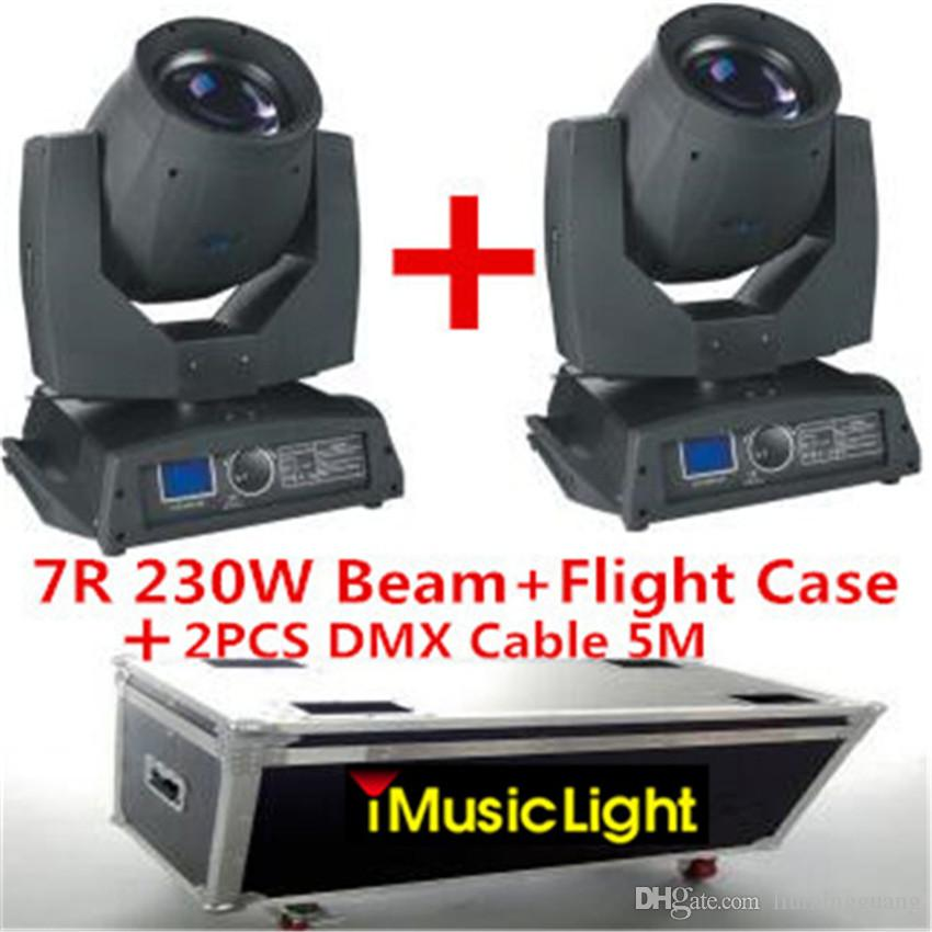 Sharpy Beam 230W Beam 7R Moving Head Light with Flight Case +DMX Cable 5M Disco Lights for DJ Club Nightclub Party