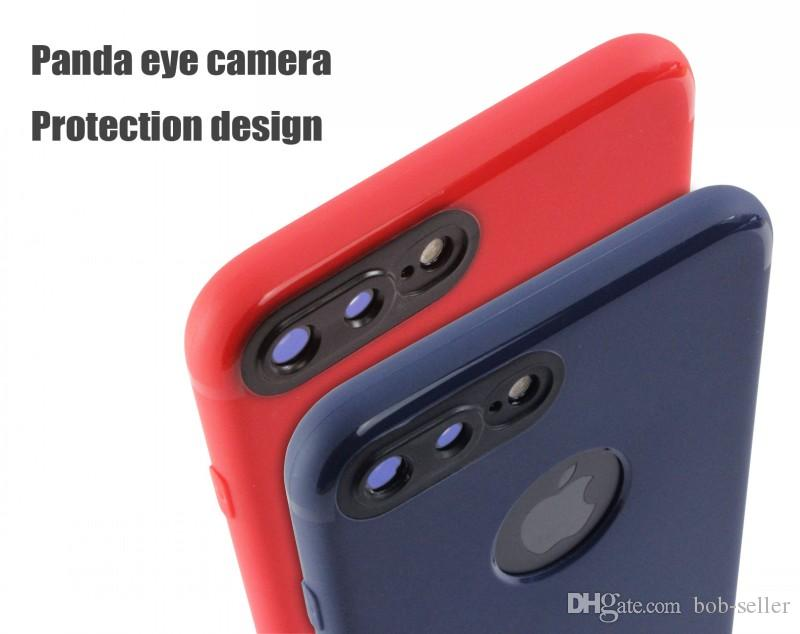 For Red apple iphone goophone 7 7 plus 6S plus panda eye camera protection design TPU soft shell Protection Cell phone Cases