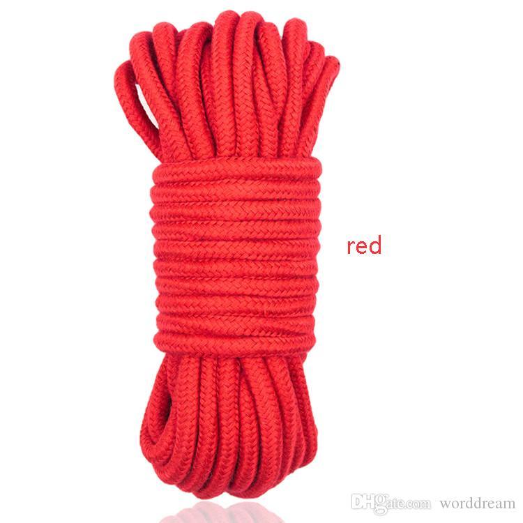 Ceinture de retenue de corde esclave de bondage souple dans les jeux pour adultes pour les couples Fétiche Jouets de sexe flirtant pour les femmes et les hommes - 20 M