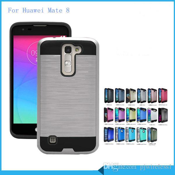 Armadura PROCESSO híbrido Para iphone x 8 mais para Samsung Galaxy nota 8 para ZTE lâmina caso de Z máx MetroPCS escovado tampa