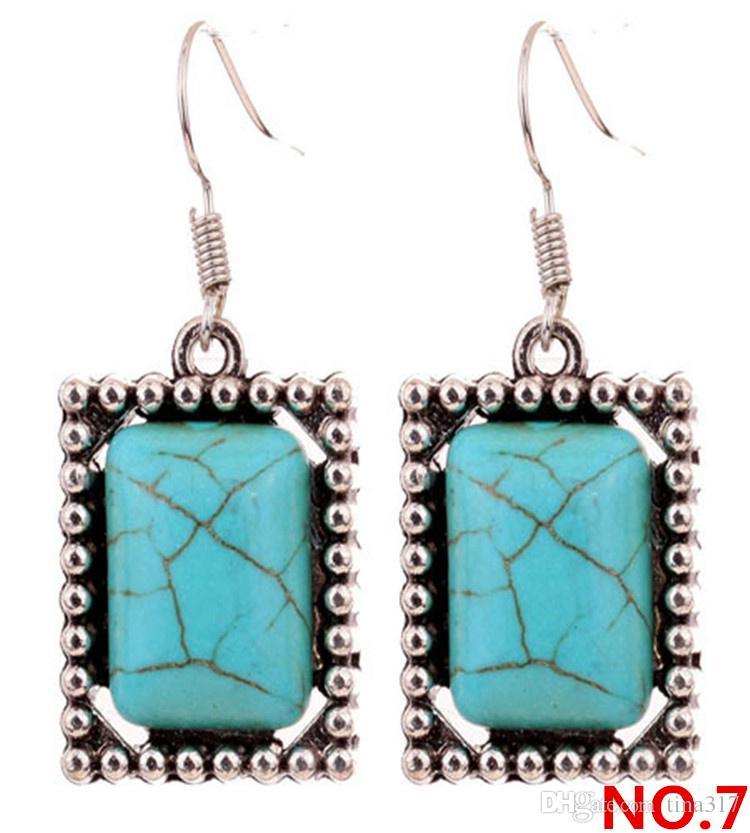 Accessori di moda in stile nazionale e orecchini in pietra turchese gli orecchini di vendita del produttore direttamente CA321