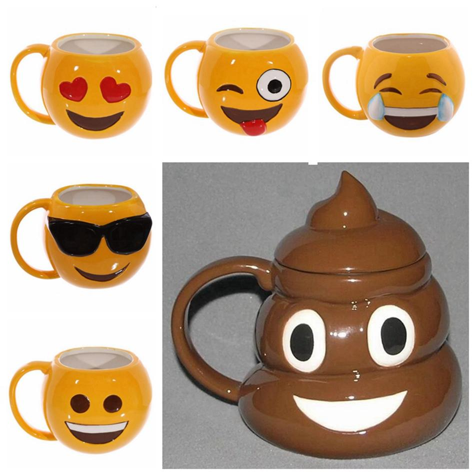 Office Cups. Emoji Cute Mugs Emotive Coffee Mug Office