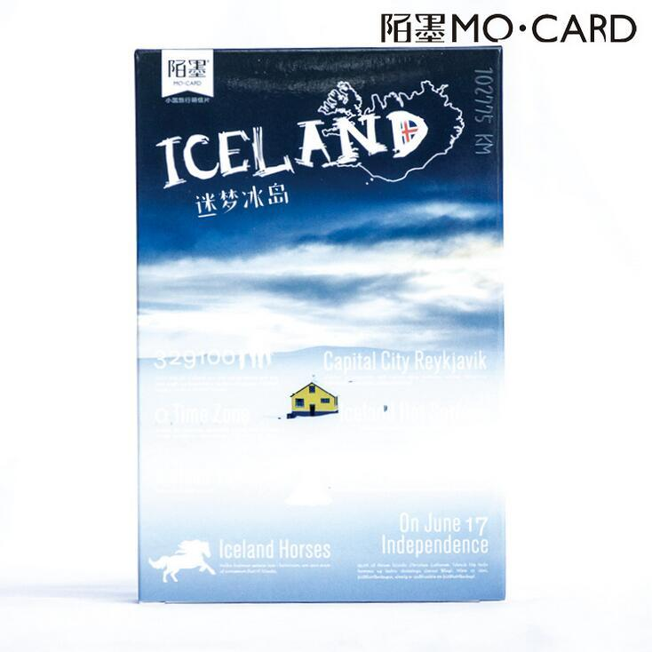 Grosshandel 30 Teile Paket Island Meer Schnee Szene Geographie Gruss