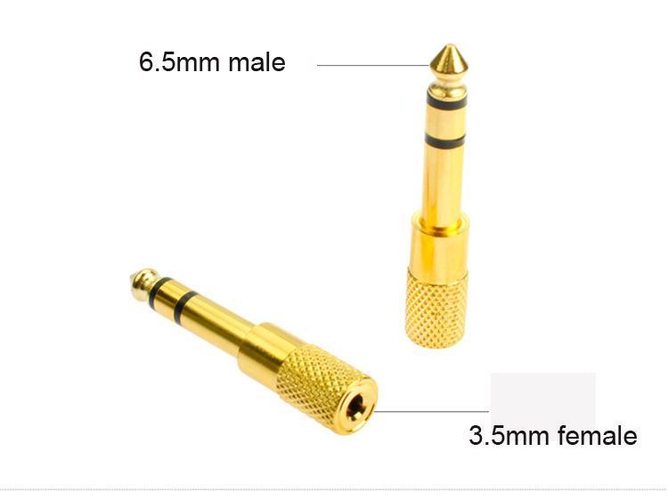 10 unids Oro 6.5mm 1/4