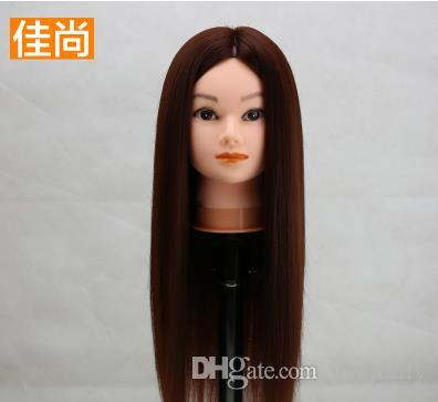 Head Model Fake Hair Model Mannequin Heads Multi-color Braided Hair Updo Makeup Model Ornaments Show Fluffy