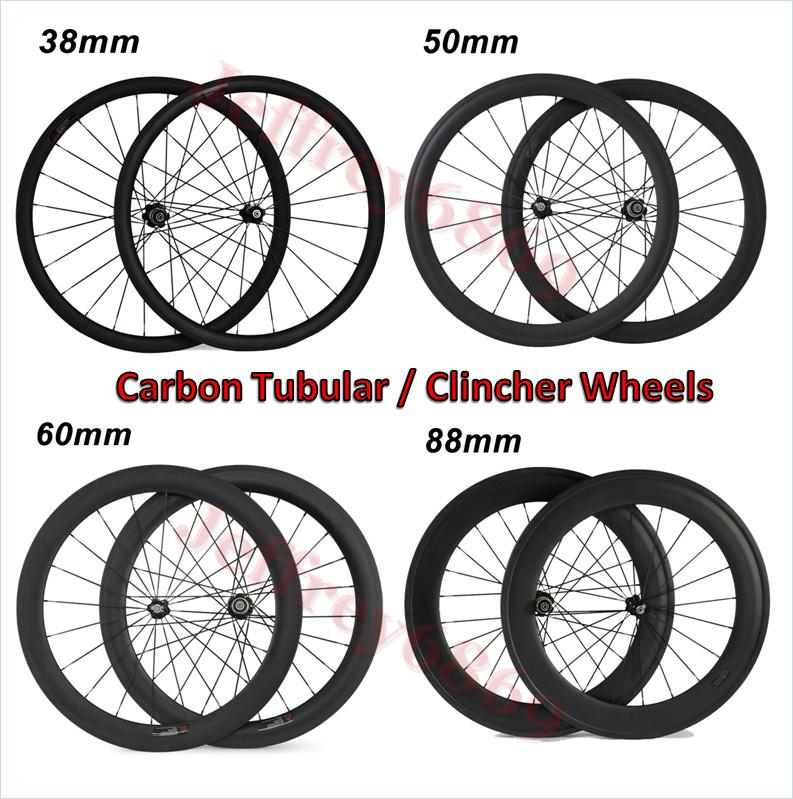 Super light carbon wheels clincher 60mm tubuless carbon wheelset road bicycle wheel with ceramic bearing hub with CN 494 spoke