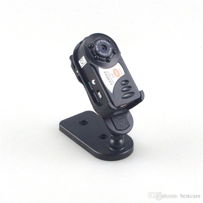 Mini Taşınabilir Kamera WiFi IP Kamera Gece Görüş Süper Mini DV Güvenlik Kamera Video Kaydedici Güvenlik IOS / Android PC Uzaktan Görünüm Q7