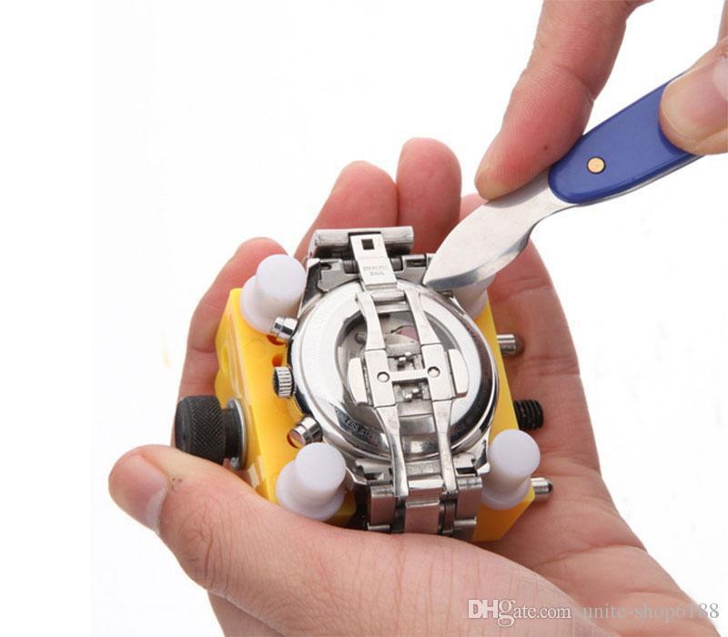 Strumento di riparazione Rolex Hot New Arrvial Top Durevole orologiaio Mans Watch Repair Tool Back Case Holder regolabile Opener Remover Tool