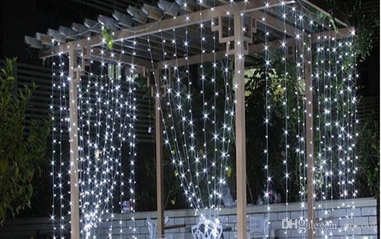 Рождество открытый водонепроницаемый свадебная церемония этап света 4m * 3M400LED фон занавес свет отель украшения огни звезды вспышки строка