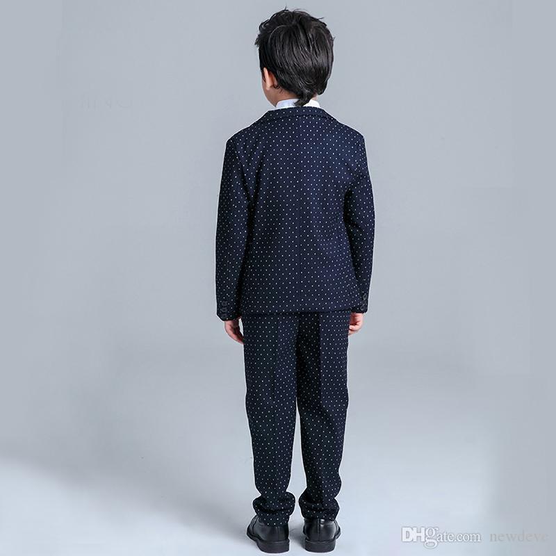 Erkek Düğün Için Suits HandSome çocuğun Resmi Takım Elbise Resmi Parti Üç Adet Tulum Çocuklar Düğün Suits