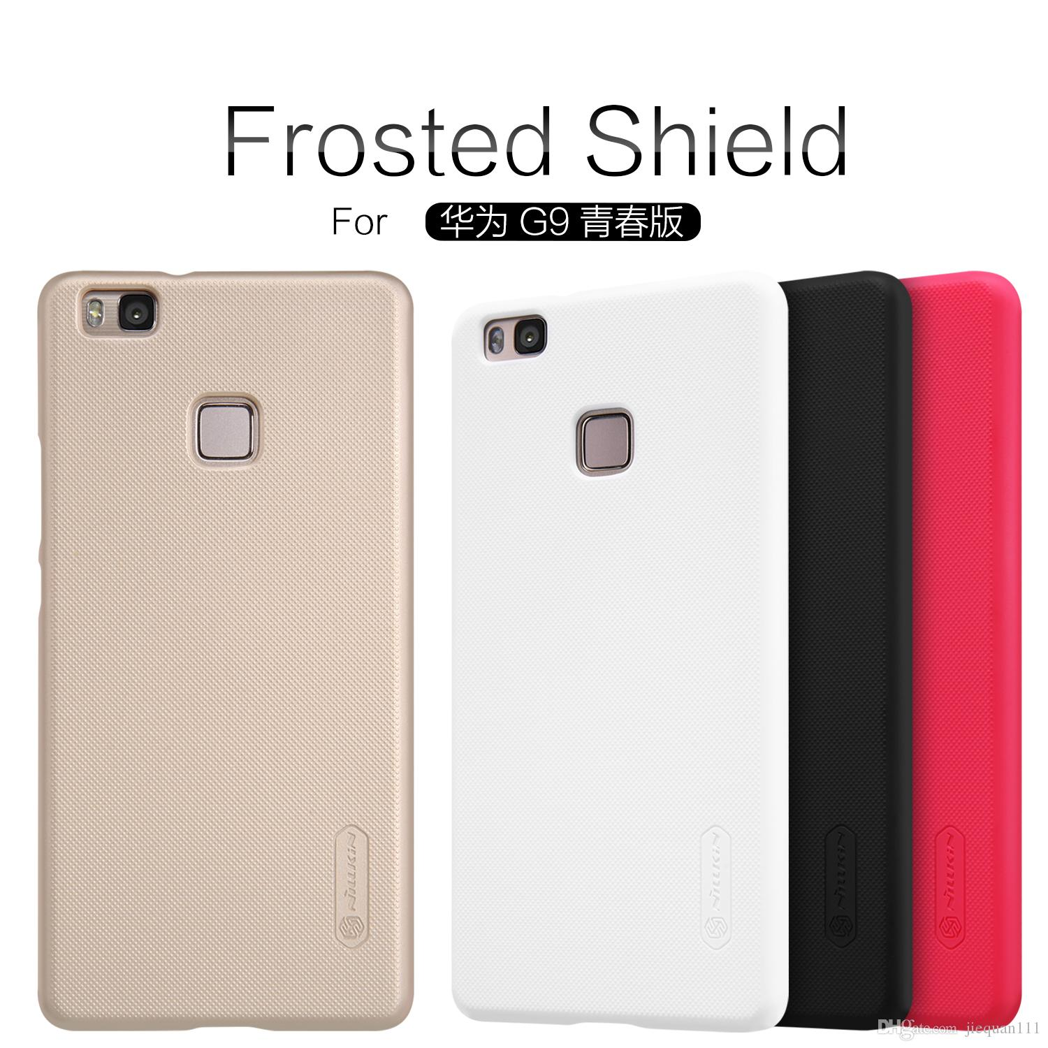 Huawei Ascend P9 Lite G9 Lite Case NILLKIN Super Frosted Shield Back Cover Case with Free Screen Protector And Retail Package Huawei Ascend P9 Lite Ascend