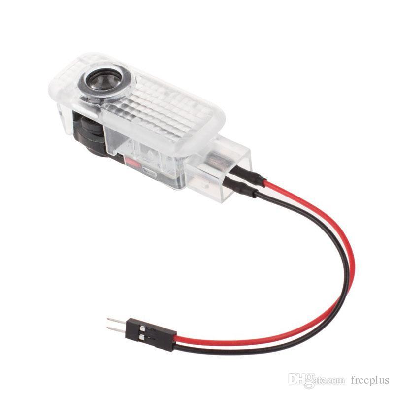 / set Araba LED Kapı Işık Lazer Gölge En AUDI Q3 Q5 Q7 A3 A4L A6L A7 İçin Projektör Logo açtı Welcome