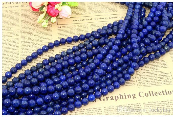 Hot sale Natural crystal Lapis Lazuli loose beads 8mm beaded DIy jewelry necklace bracelet accessories material sweet jewelry drop shipping