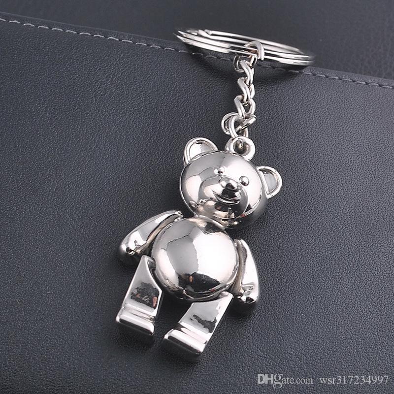 Yeni Caming metal ayı anahtarlıklar için güzel çinko alaşım hayvan oyuncak anahtarlık kız anahtarlıklar kadın çanta çekicilik aksesuar ...
