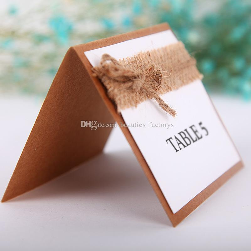 Retro Table Name Place Cards Linen Lace Wedding Party Favor DecorBirthday Party Centerpieces Accessories Baby Shower