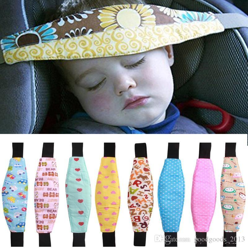 2018 Infant Head Safety Belt Children Adjustable Nap Sleep Holder Car Seat Fixing Band Strap Baby Carriage Bed Protective B1337 From
