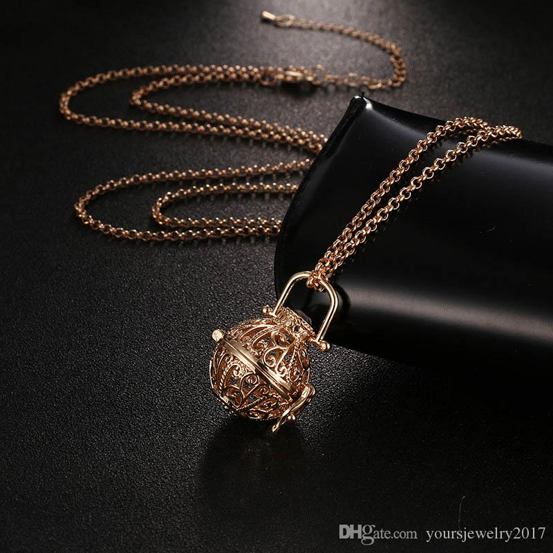 Aromatherapy Essential Oil Diffuser Necklace Diffuser Pendant Necklaces with 31 Inch Chain Aromatherapy Jewelry