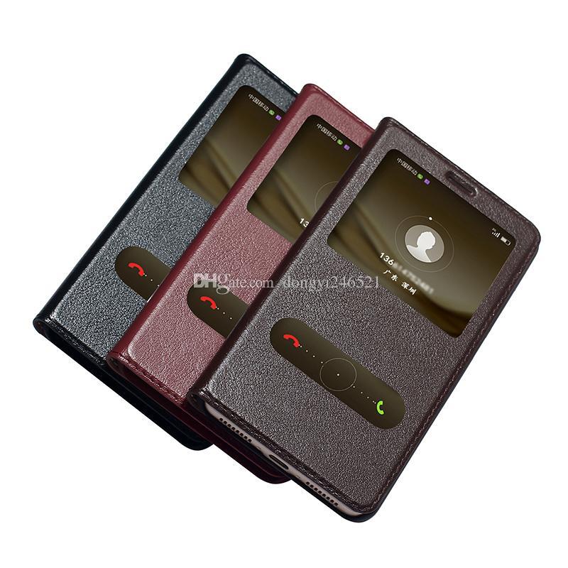 إلى Huawei Mate 9 Case غطاء رفيع نحيف Flip Wallet جلد أصلي فاخر أصلي Case Case for Huawei Mate 9