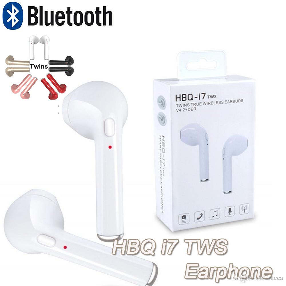 HBQ I7 Twins Bluetooth Headset V4.1 In Ear Headphone Bluetooth Headset  Wireless Sports Stereo Earphones Headset Noise Canceling For Note8 Phone  Earphones ... c6f48c6a00a99