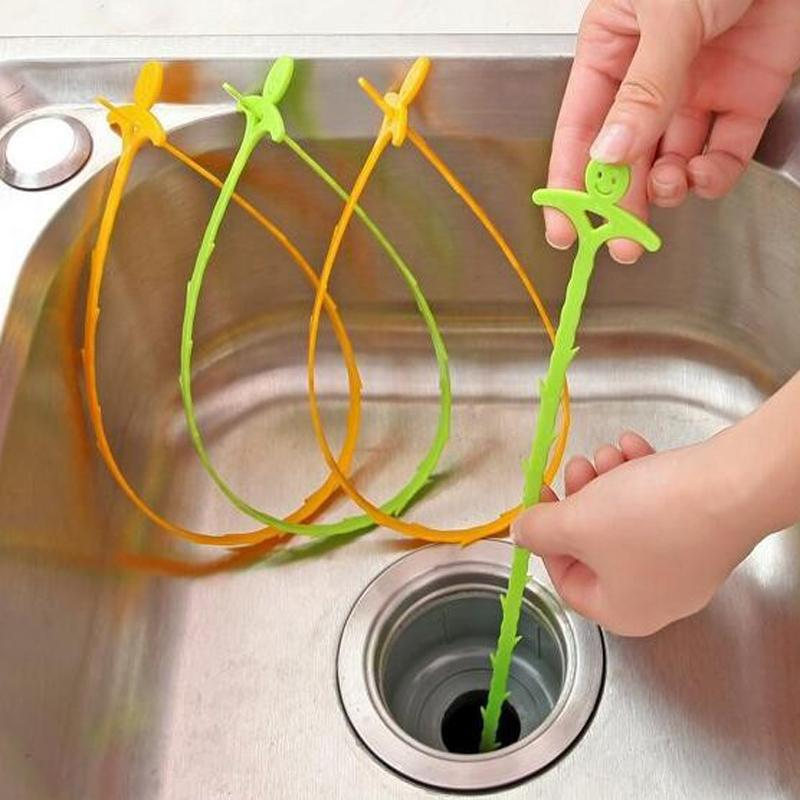 Bathroom Hair Sewer Filter Drain Cleaners Outlet Kitchen Sink Filter Strainer Anti Clogging Floor Wig Removal Clog Tools TT230