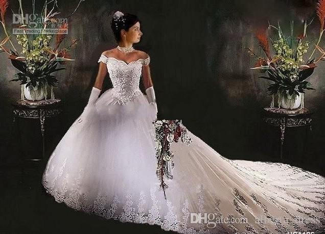 Dhgate Wedding Gowns: Discount A Line Wedding Dresses NEW Strapless Flower
