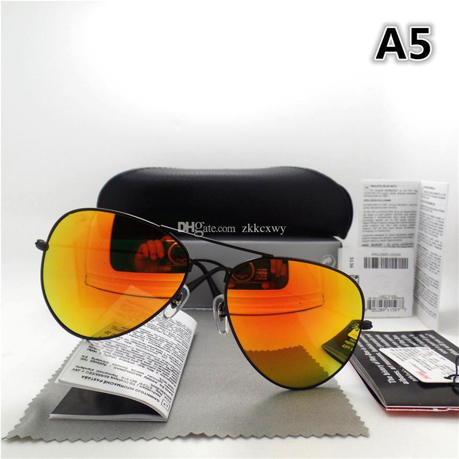 AAAA + qualität Glaslinse Männer Frauen Polit Fashion Sonnenbrille UV Schutz Marke Designer Vintage Sport sonnenbrille Mit box und aufkleber