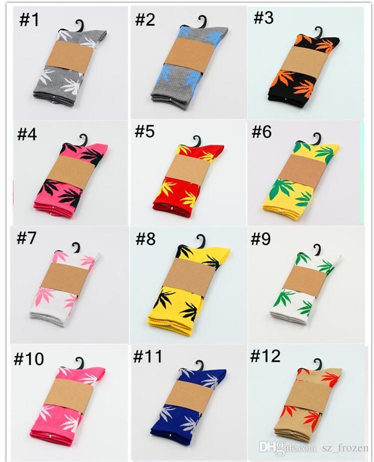 33 الألوان عيد الميلاد plantlife الجوارب للرجال النساء جودة عالية الجوارب القطنية التزلج الهيب هوب مابل ليف الجوارب الرياضية بالجملة الشحن dhl فيديكس