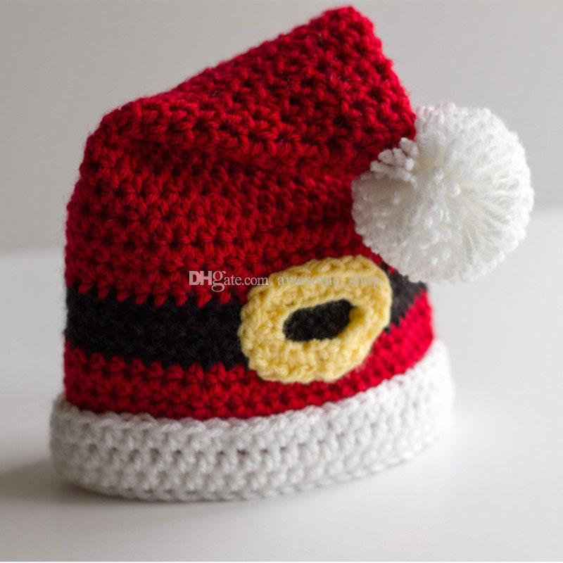 4429c6e7b 2019 Novelty Santa Elf Hat,Handmade Knit Crochet Baby Boy Girl Christmas  Pom Pom Hat,Toddler Funny Hat,Infant Photography Props From Awesome_shop,  ...