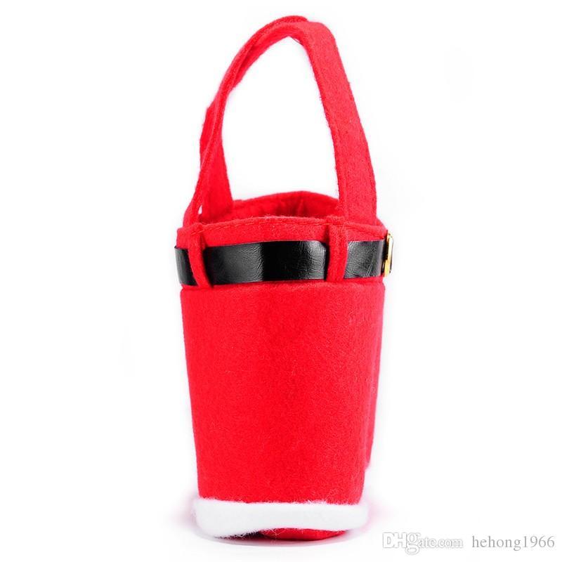 Delicate Handbag Rouge Flocage Tissu De Noël Arbre D'ornement De Mariage Sac De Bonbons Fournitures de Fête Décor De Noël Vente Chaude 5ws F R