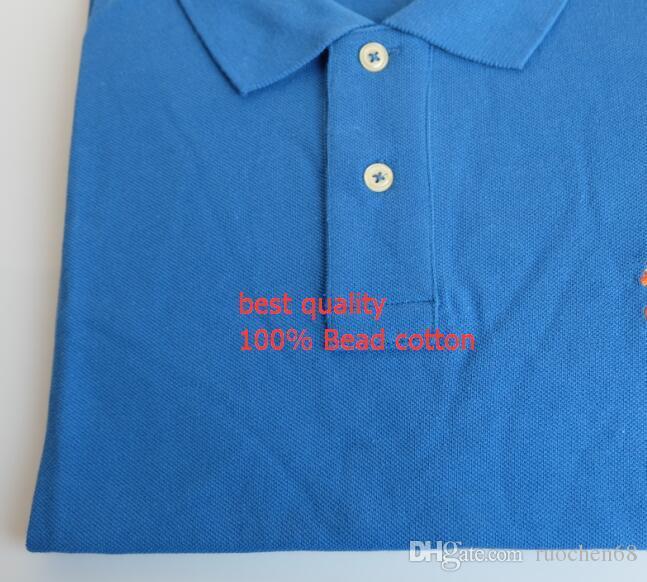 100% algodão dos homens de manga curta camisa dos homens moda casual t camisa de golfe camisas masculinas camisas PONY navio livre